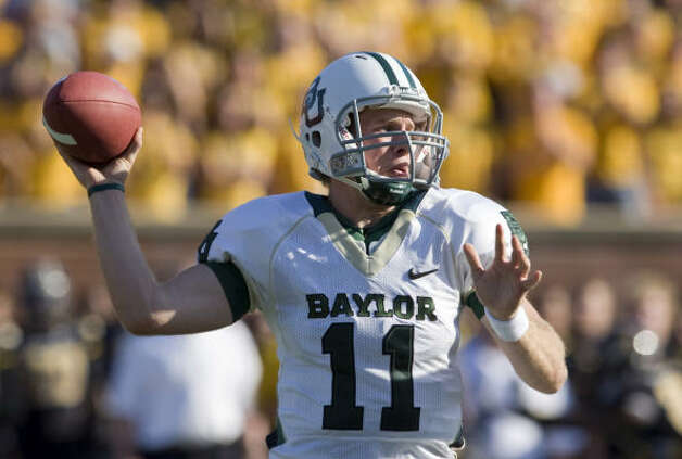 Baylor quarterback Nick Florence, who has filled in for injured Robert Griffin, has ties to A&M and Baylor. Photo: L.G. Patterson, AP