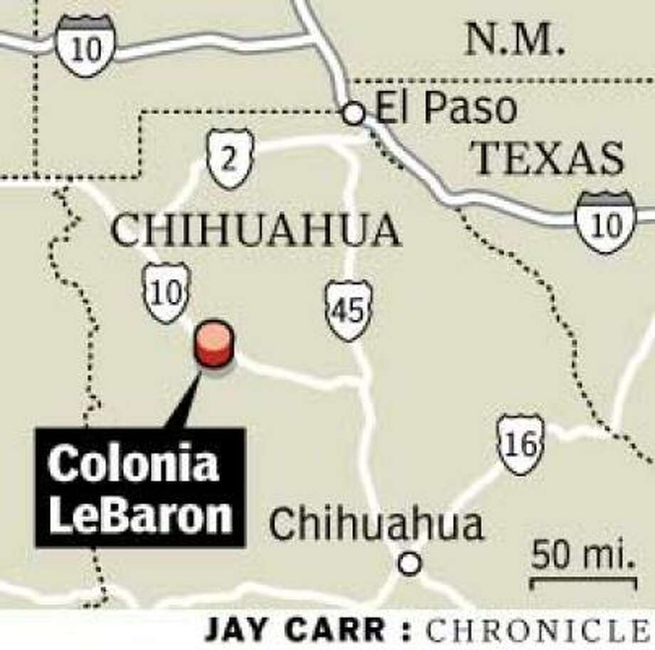 Colonia Lebaron Mexico Map.Two Americans In Mormon Sect Slain In Mexico Houston Chronicle