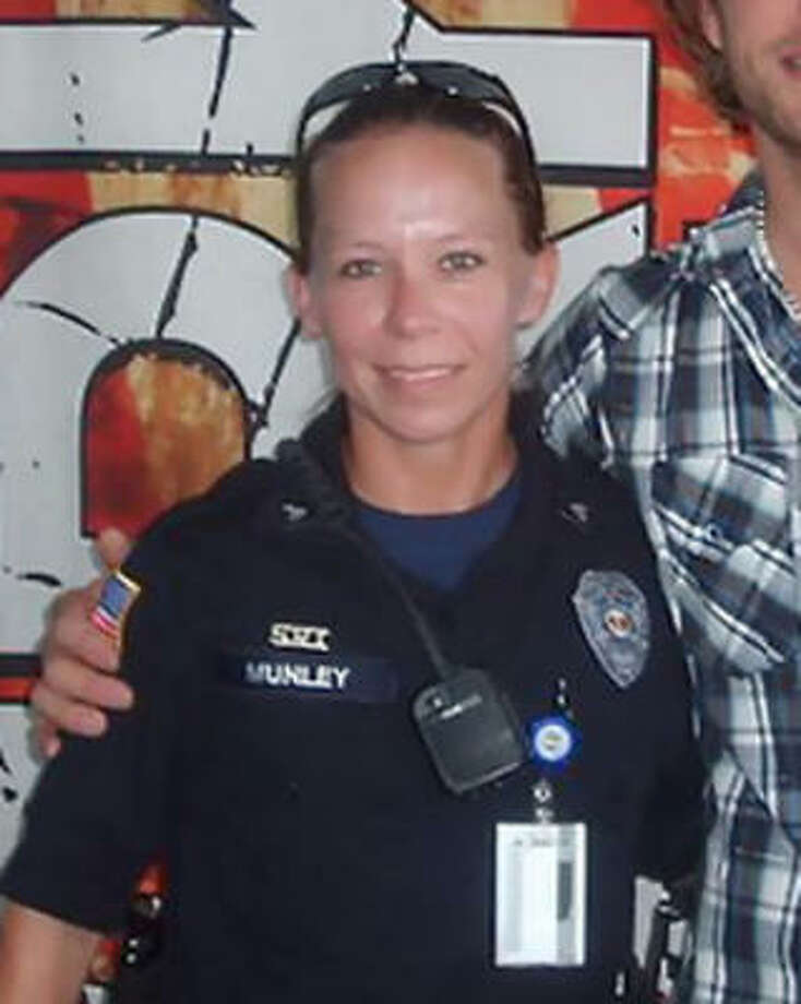 Sgt. Kimberly Munley, a civilian Fort Hood police officer credited with helping to stop the carnage, is pictured in a July photo on her Twitter page. Photo: Associated Press