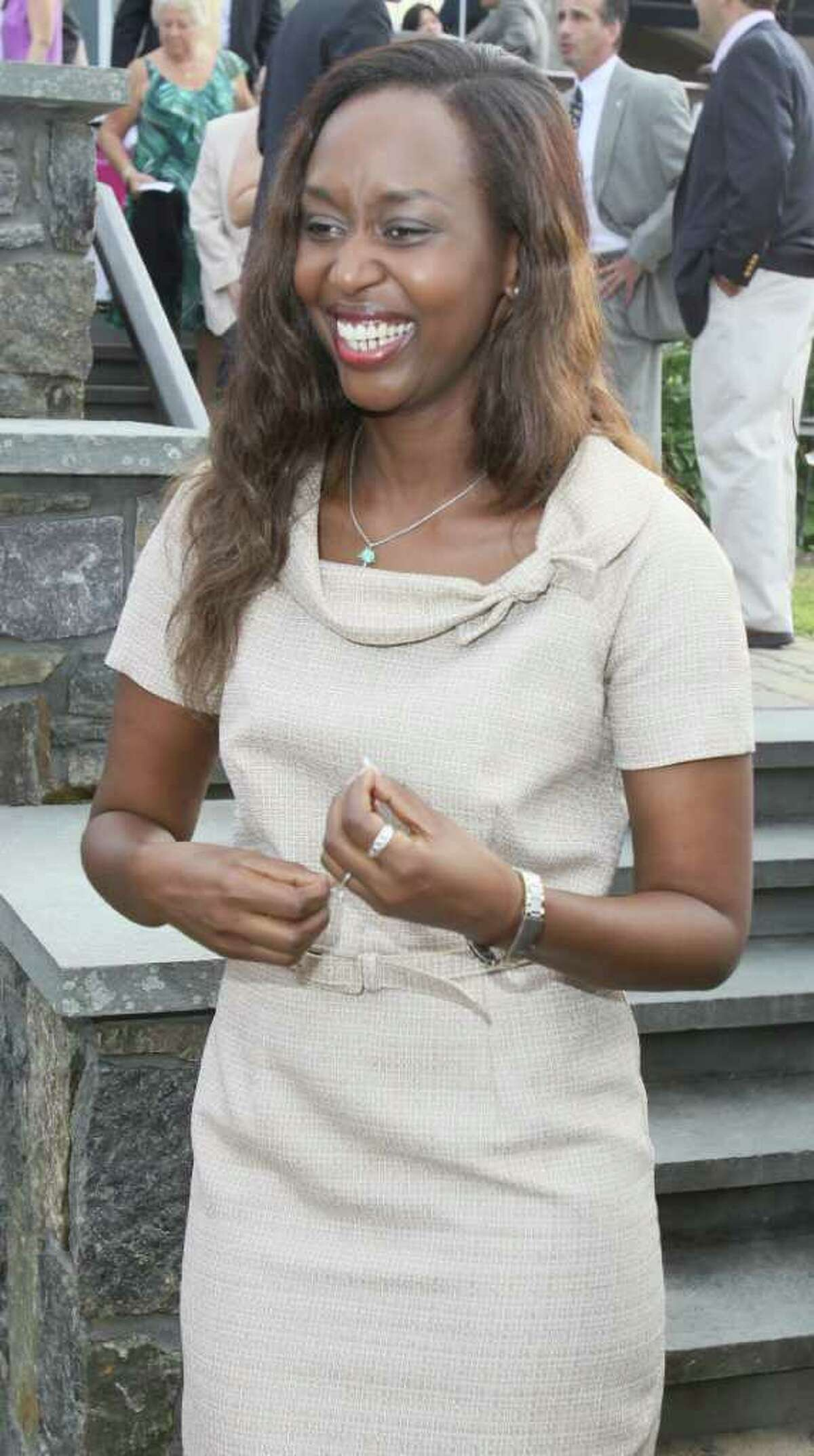 Saratoga Springs, NY - July 28, 2011 - (Photo by Joe Putrock/Special to the Times Union) - 2011 Teresian Faith, Hope and Courage Award Winner Immaculee Ilibagiza arrives at the Teresian House Foundation 21st Annual Friendraising Gala.