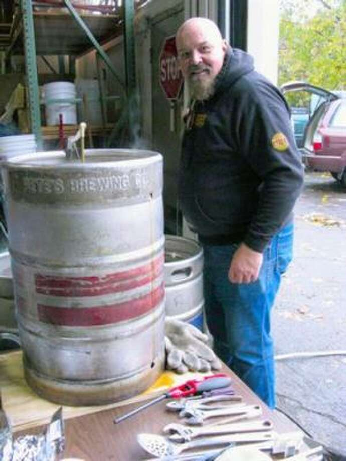 Michel Brown of Oregon has been brewing beer at home for 38 years. Photo: John Foyston, AP
