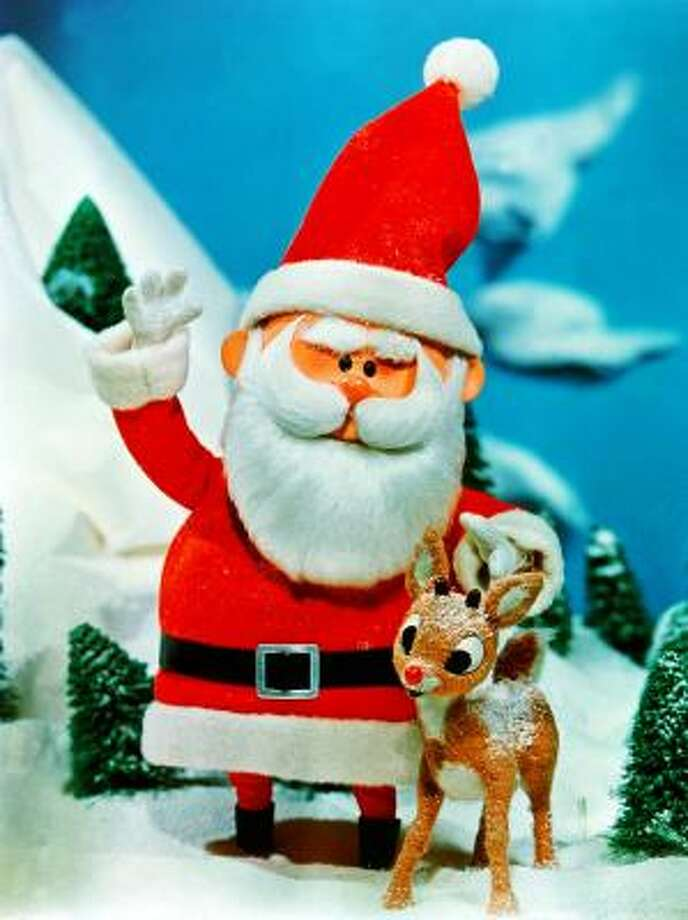 Santa's the cuddly winner of this little competition. Photo: CBS