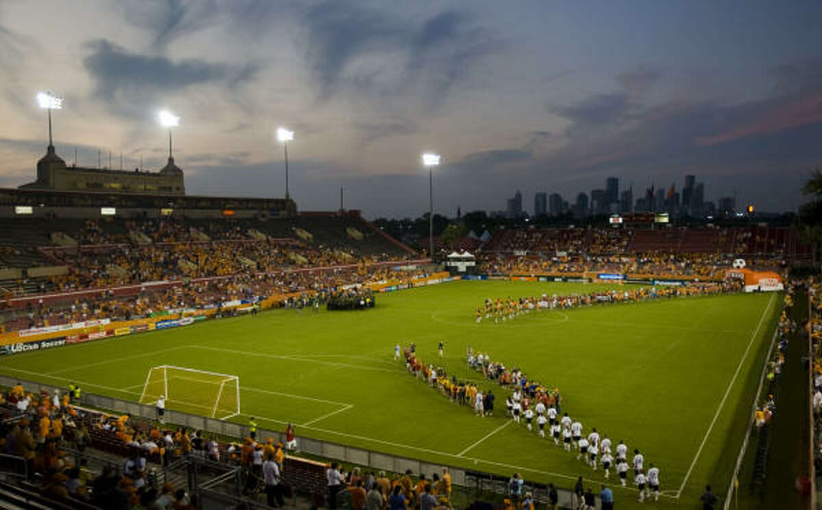 One of MLS' clubs without a soccer-specific stadium, the Dynamo play at Robertson Stadium.