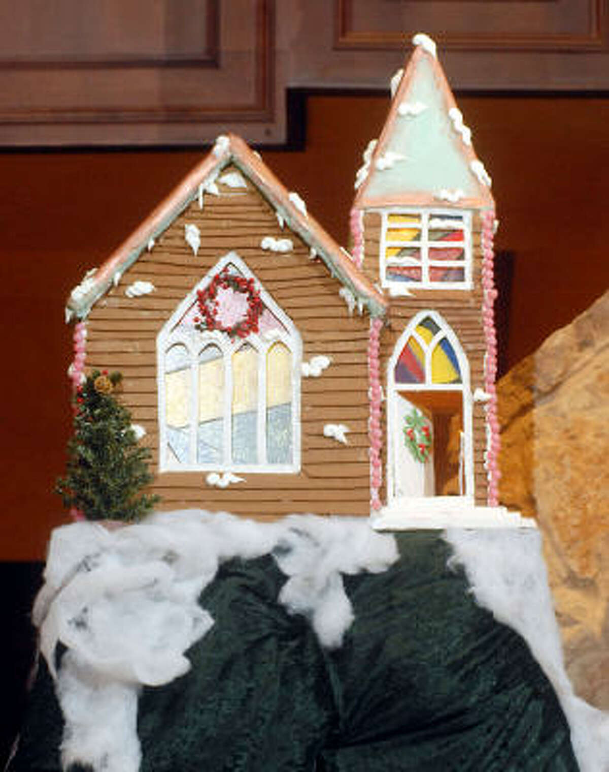 COLORFUL: More than 100 pounds of gingerbread was needed to build the village.