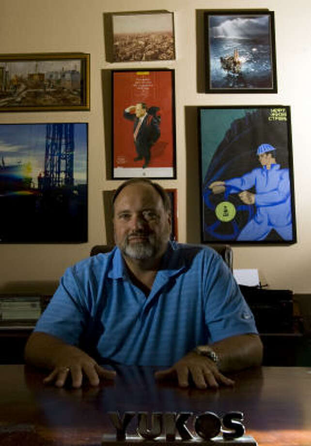 Bruce Misamore, the former CFO of Russian oil company Yukos, works from his Houston home to regain lost assets for Yukos' more than 55,000 shareholders. Photo: JOHNNY HANSON :, CHRONICLE