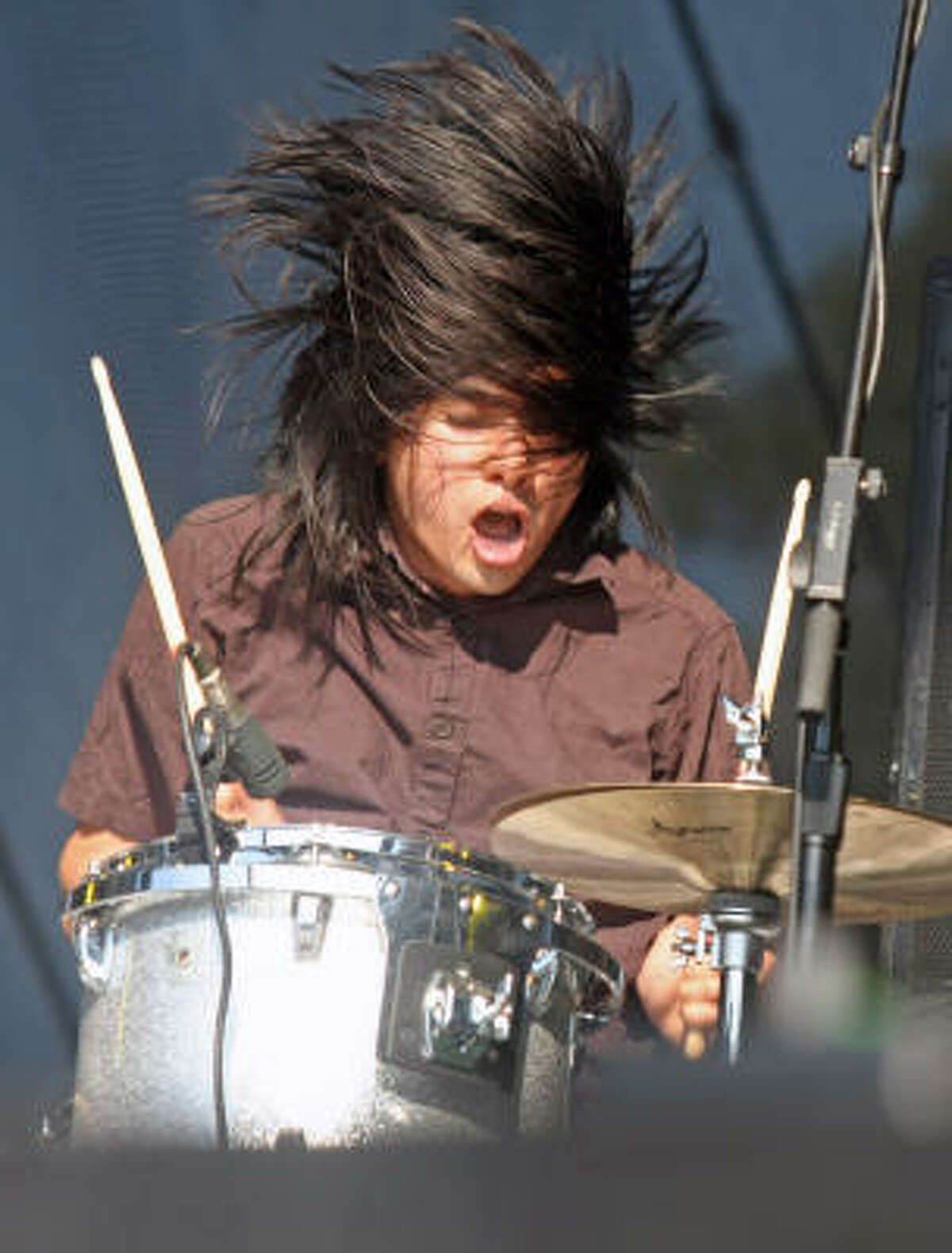 Christopher Guanlo of the Silversun Pickups performs in Austin.
