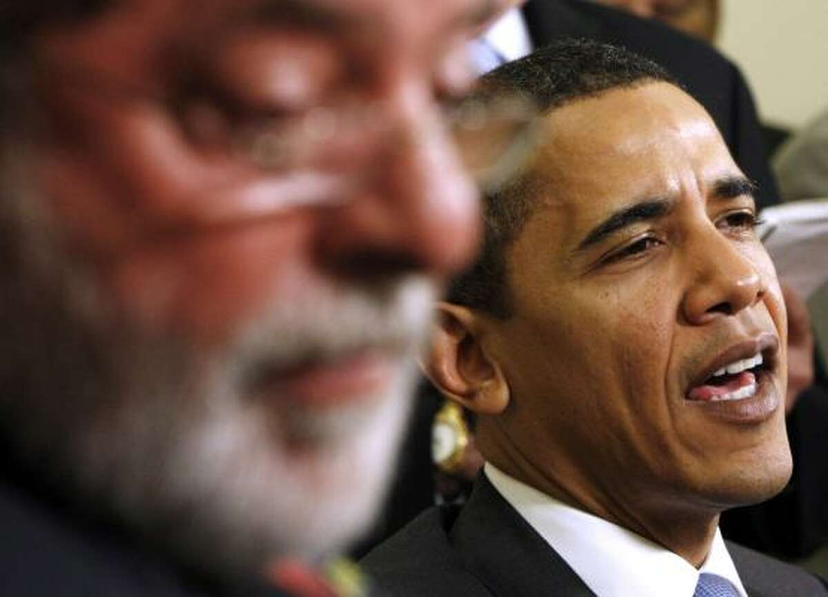 Brazil President Luiz Inacio Lula da Silva is the first Latin American leader to sit down with President Obama.