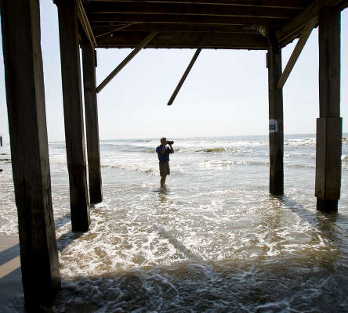 Ellis Pickett, a surfer and chairman of the Surfrider Foundation's Upper Texas Coast Chapter, sees evidence with every visit to Surfside Beach of the shrinking sand and its effect on homes. He fears Surfside will disappear like Sargent Beach did.