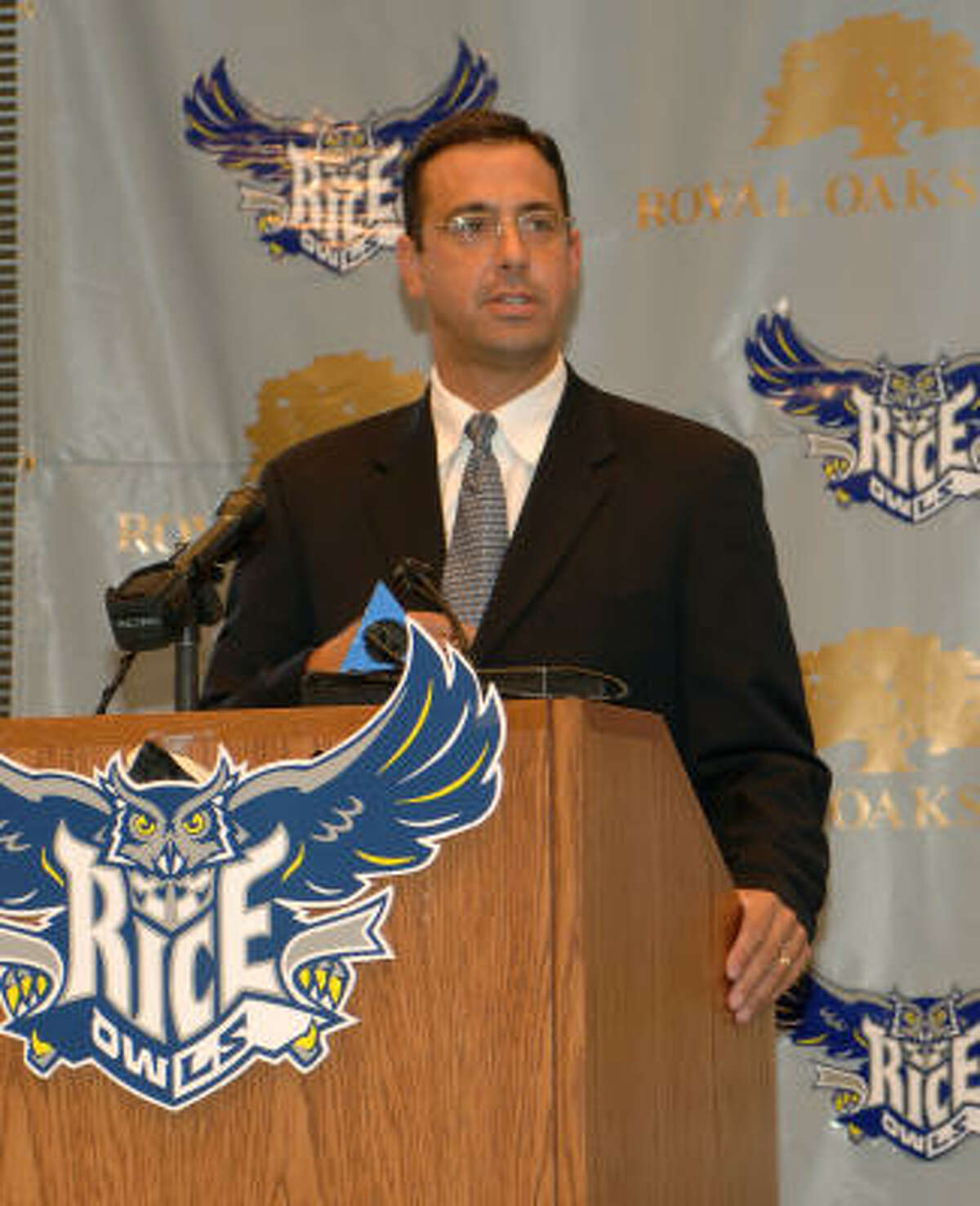 Athletic director Chris Del Conte's vision of improving Rice's teams by upgrading their facilities is coming true.