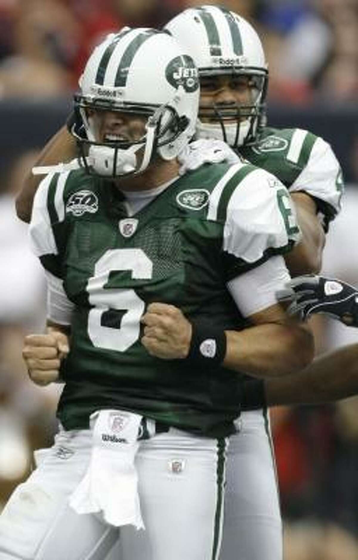 Rookie Mark Sanchez won his Jets debut with Sunday's 24-7 victory over the Texans.