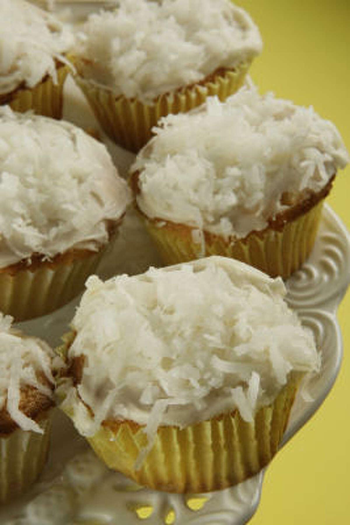 Coconut-Filled Lemon Cupcakes