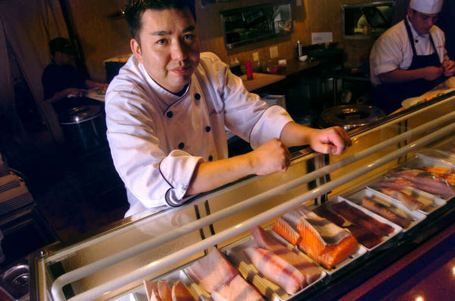 Chef Manabu Horiuchi (known to some of his fans as Hori-san  from his days at Kubo's) has a delicious menu of raw and cooked foods. Photo: CHRIS CURRY :, For The Chronicle