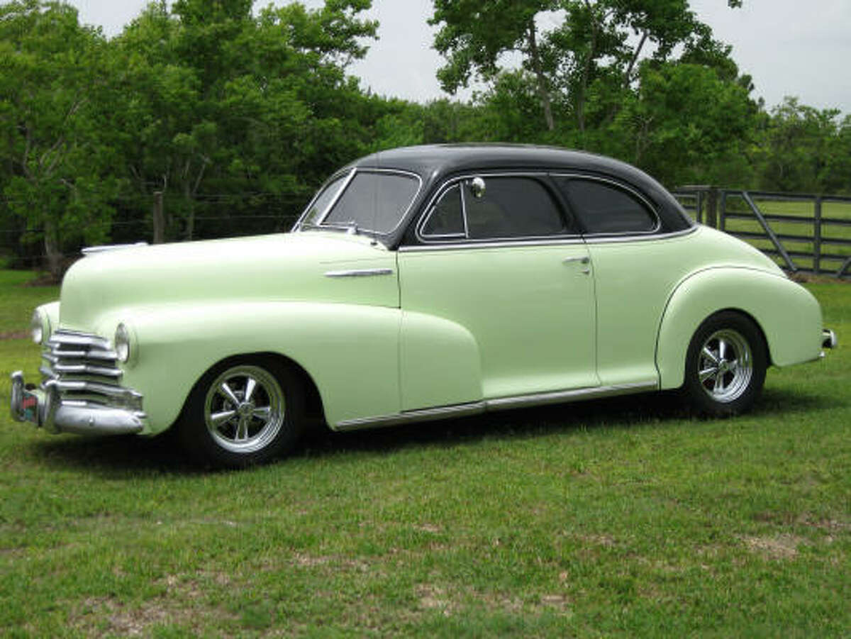 """Mike Dillon's 1948 Chevrolet Coupe """"Aunt Mae"""" originally was owned by Dillon's great aunt Mae. Dillon was lucky enough to track down the Chevy -- in original condition -- in an old garage in Kansas."""