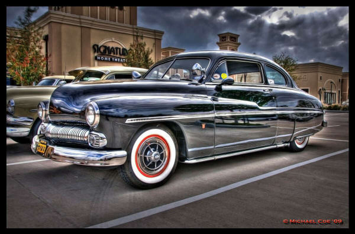 """Chet Beaty has kept his 1950 Mercury """"Angel Eyes"""" in retro shape — similar to the cars he remembers from his high school days in the early '60s."""