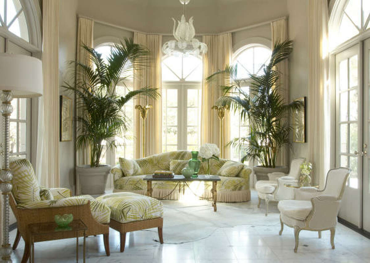 Jan Showers describes this sunroom in a Dallas house as a