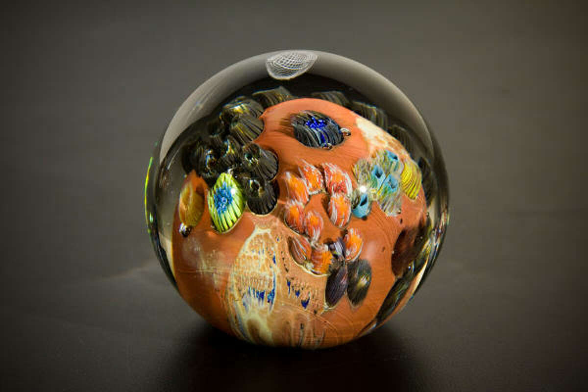 Josh Simpson paperweights range from $75 to $250 at the museum gift shop.