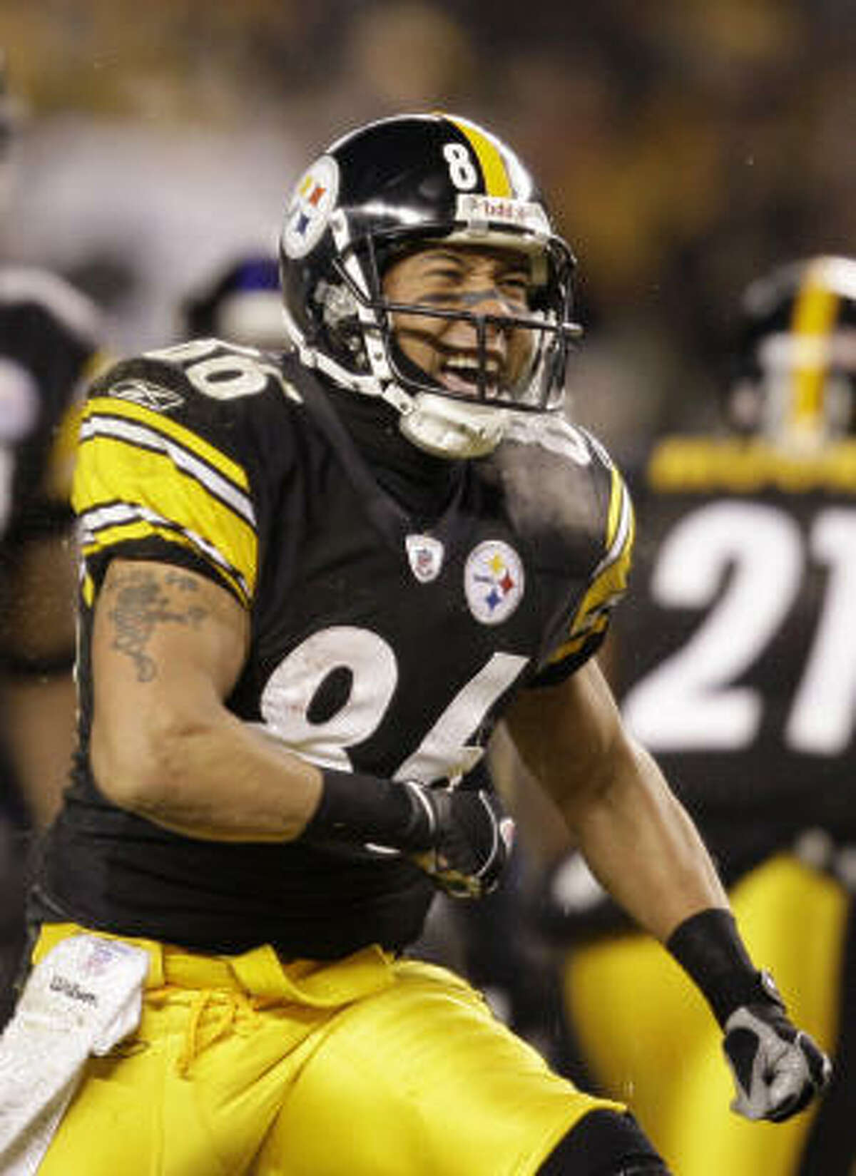 Pittsburgh receiver Hines Ward plays a physical style of football that meshes well with the Steelers.