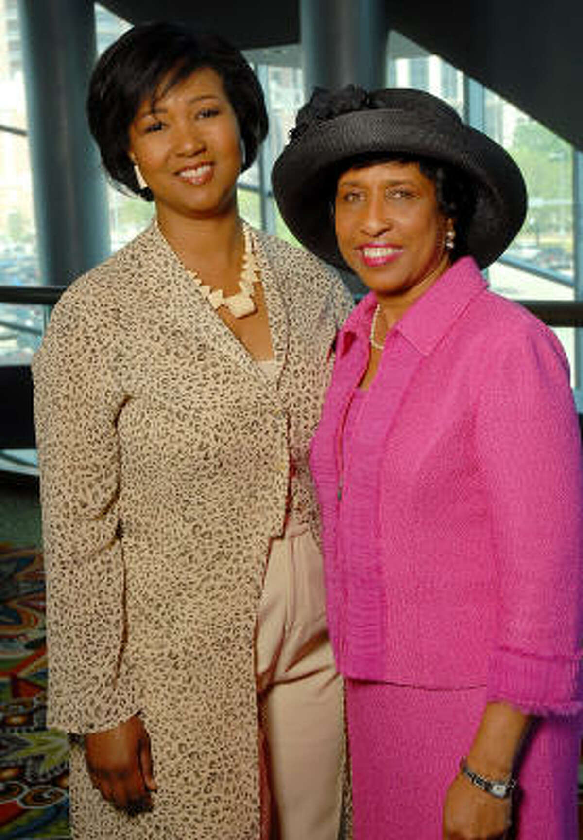 Mae Jemison, left, and Sharon Michael Owens
