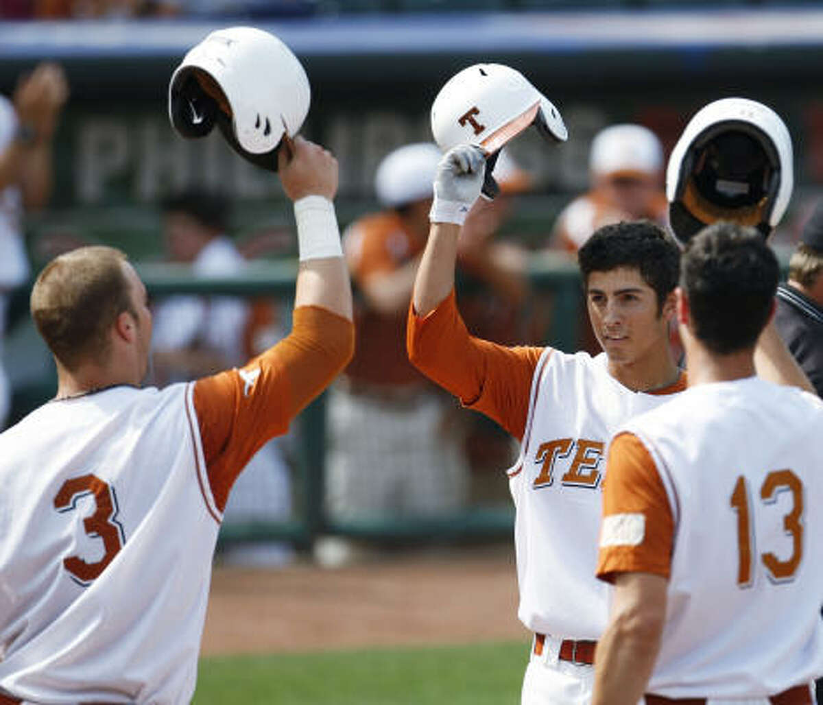 The Longhorns claimed their third conference championship in four years with a 5-4 win over the Aggies.