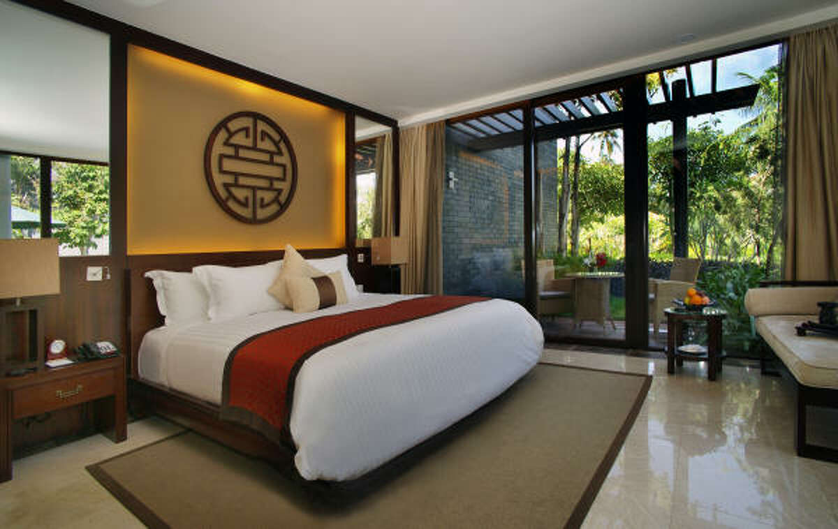 Each room at China's Banyon Tree Resort has its own pool and garden, taking advantage of a lush, lagoonlike atmosphere.