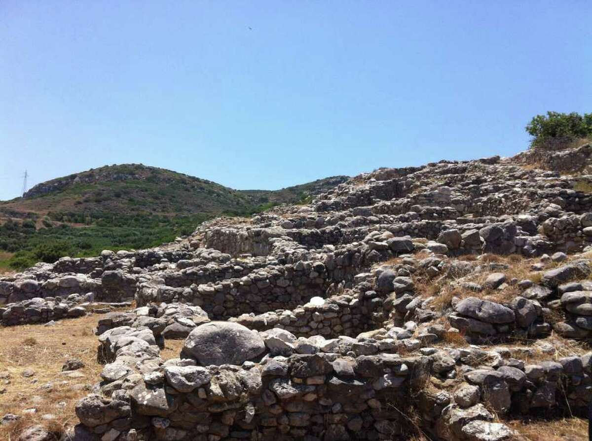 An archaeological site on the island of Crete in Greece, where Greenwich resident Caroline Morgan, a 2009 graduate of Greenwich High School and rising junior at Hamilton College, is spending her summer conducting research.