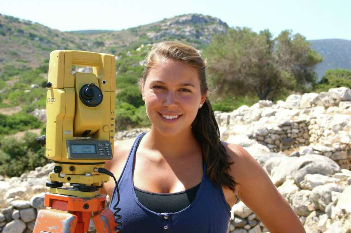 Greenwich resident Caroline Morgan, a 2009 graduate of Greenwich High School and rising junior at Hamilton College, is spending her summer conducting research in Greece at one of the oldest archaeological sites on Crete.