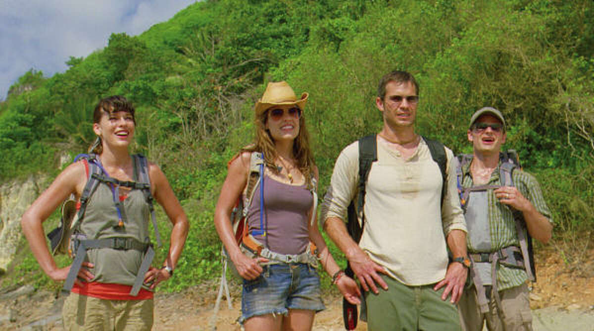 Cydney (Milla Jovovich, far left) and husband, Cliff (Steve Zahn, far right), run into trouble after meeting Gina (Kiele Sanchez) and Nick (Timothy Olyphant) while on their honeymoon.