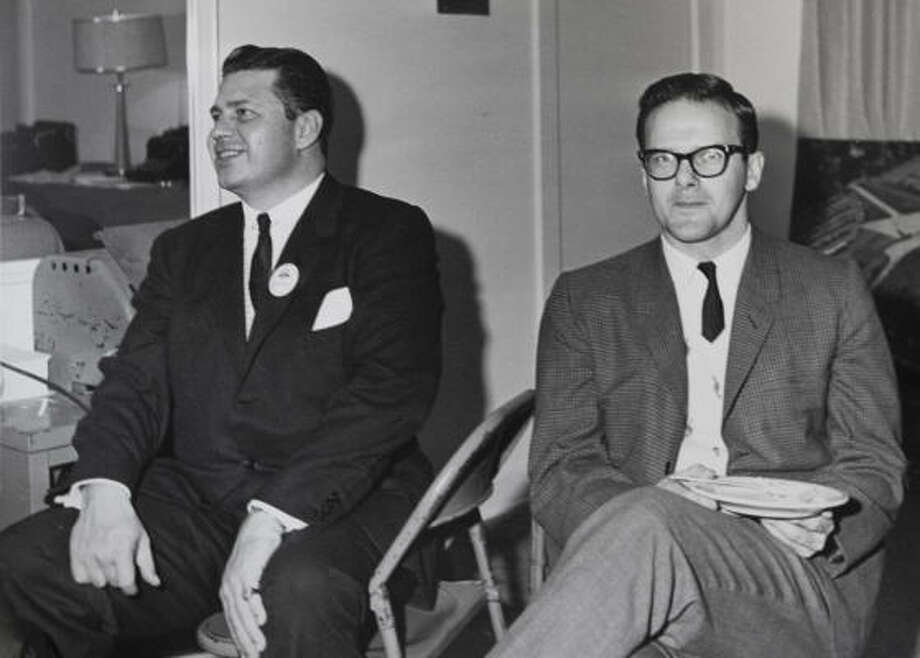 It wasn't considered a feasible plan to go against the NFL, but Bud Adams, left, and Lamar Hunt created their own league anyway. Photo: James Nielsen, Chronicle