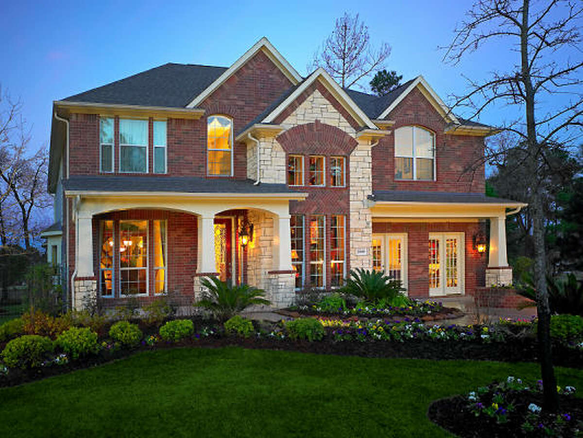 The Aspen 10's beautiful brick-and-stone elevation adds curb appeal.