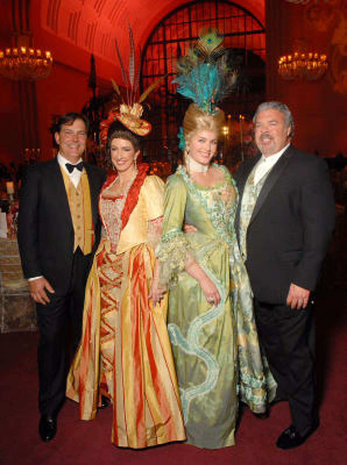"Houston Ballet Ball chairs Lance and Alicia Smith, from left, and Kimberly and Frank DeLape led the ""Magnificent Marie"" evening at Wortham Theater Center to great success, raising $775,000."