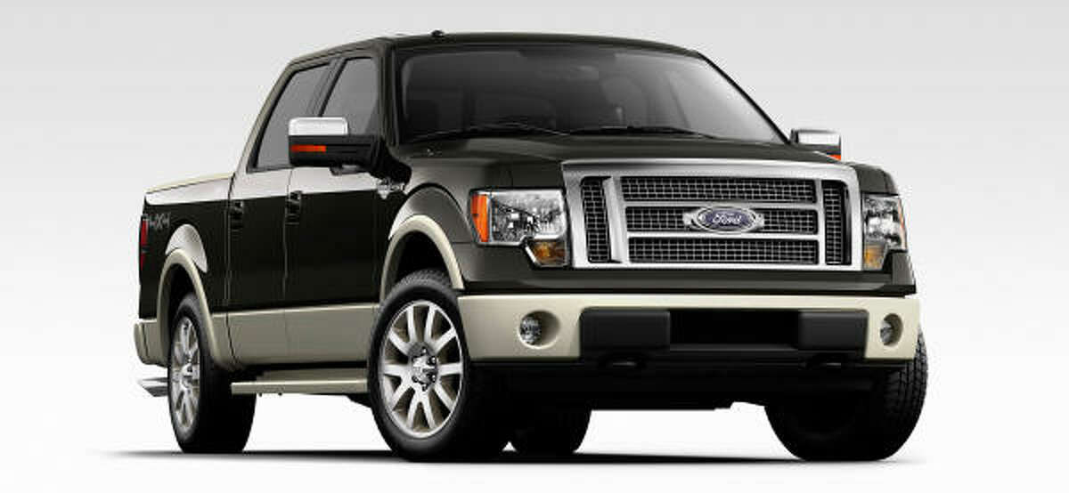 Ford's F-150 (King Ranch shown) boasts a max tow rating exceeding 11,000 pounds and an integrated tow system.