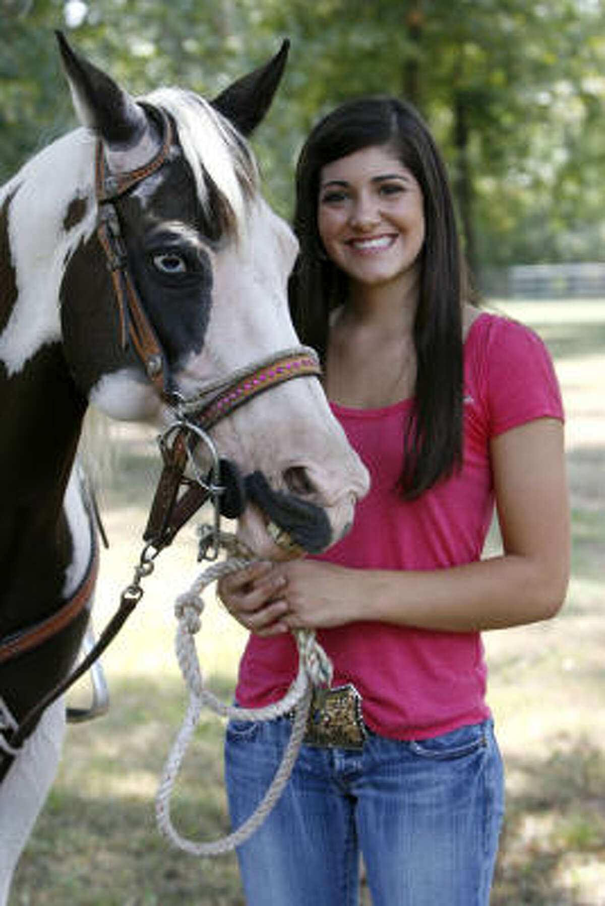 Lauren B'Oris is one of eight Houston-area competitors who will take part in this month's National High School Finals Rodeo, but the only pole bender.