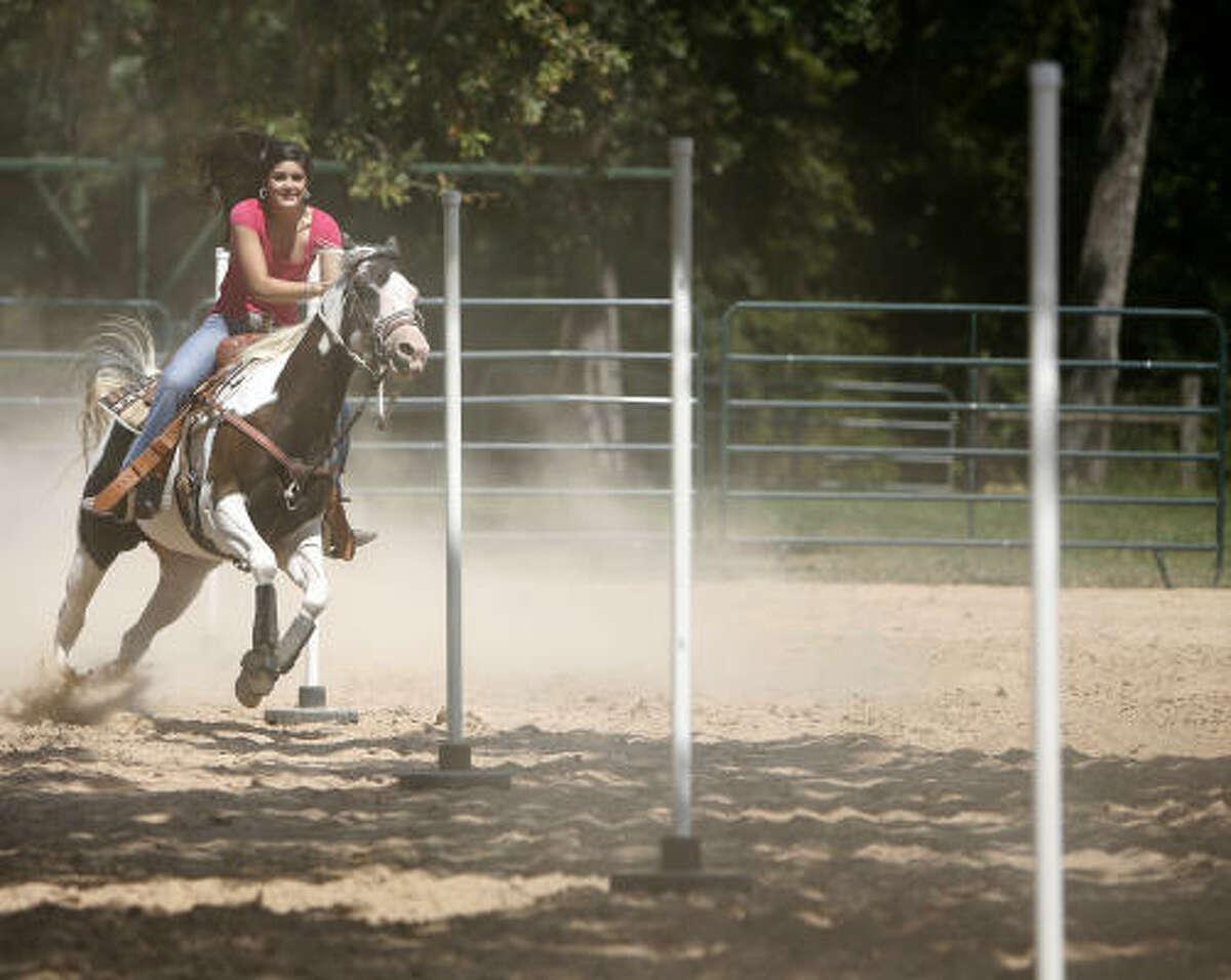 Lauren B'Oris and her horse
