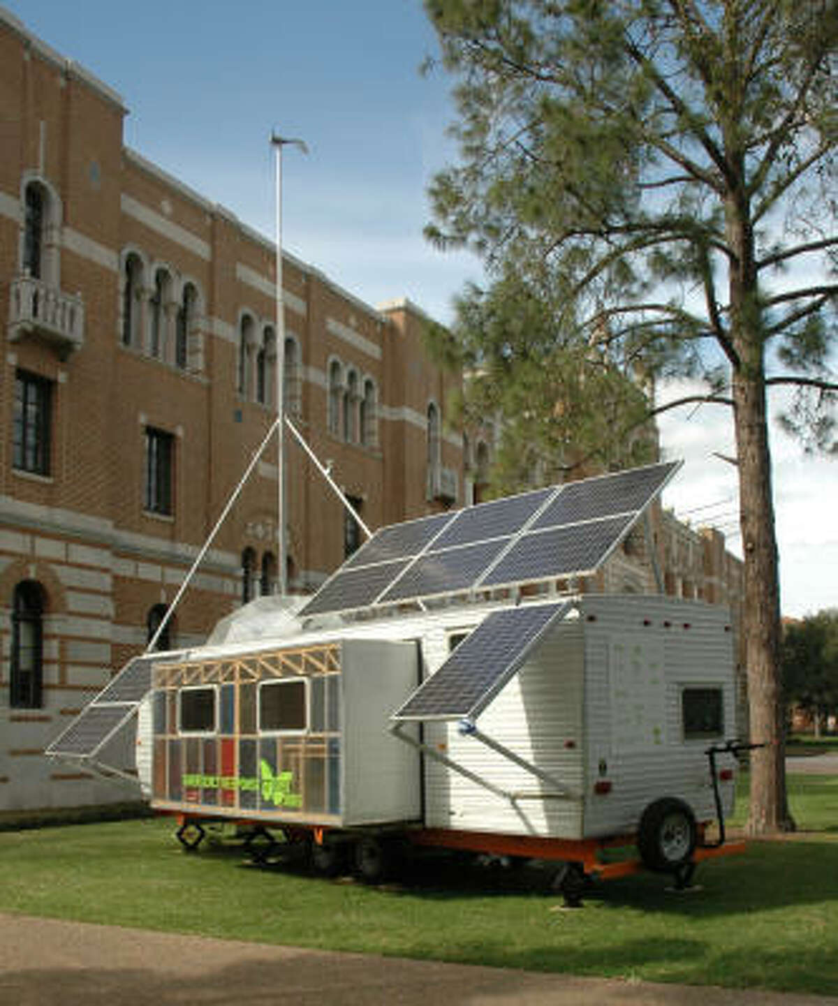 Paul Villinski's mobile exhibit Emergency Response Studio not only addresses the struggles since Hurricane Katrina, but also provides information about movable housing. And it's solar-powered, too.