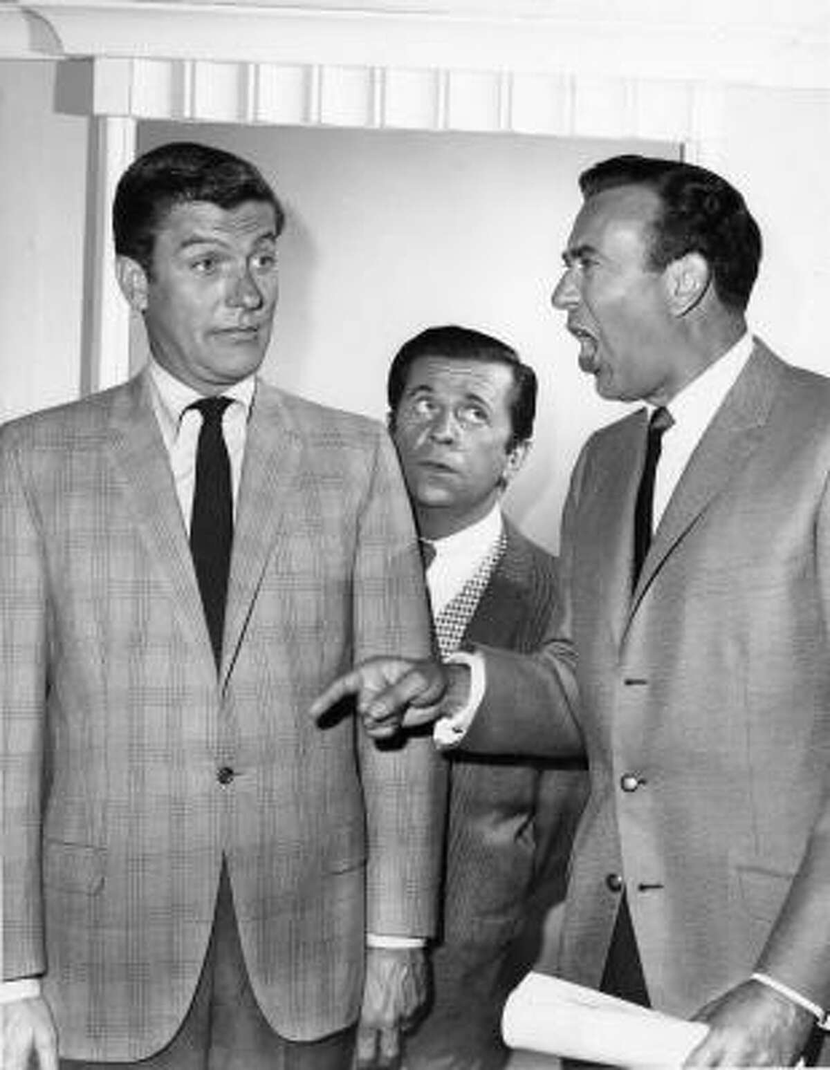 Dick Van Dyke, from left, Morey Amsterdam and Carl Reiner were instrumental in making The Dick Van Dyke Show a success. It's one of the series highlighted in Make 'Em Laugh: The Funny Business of America.