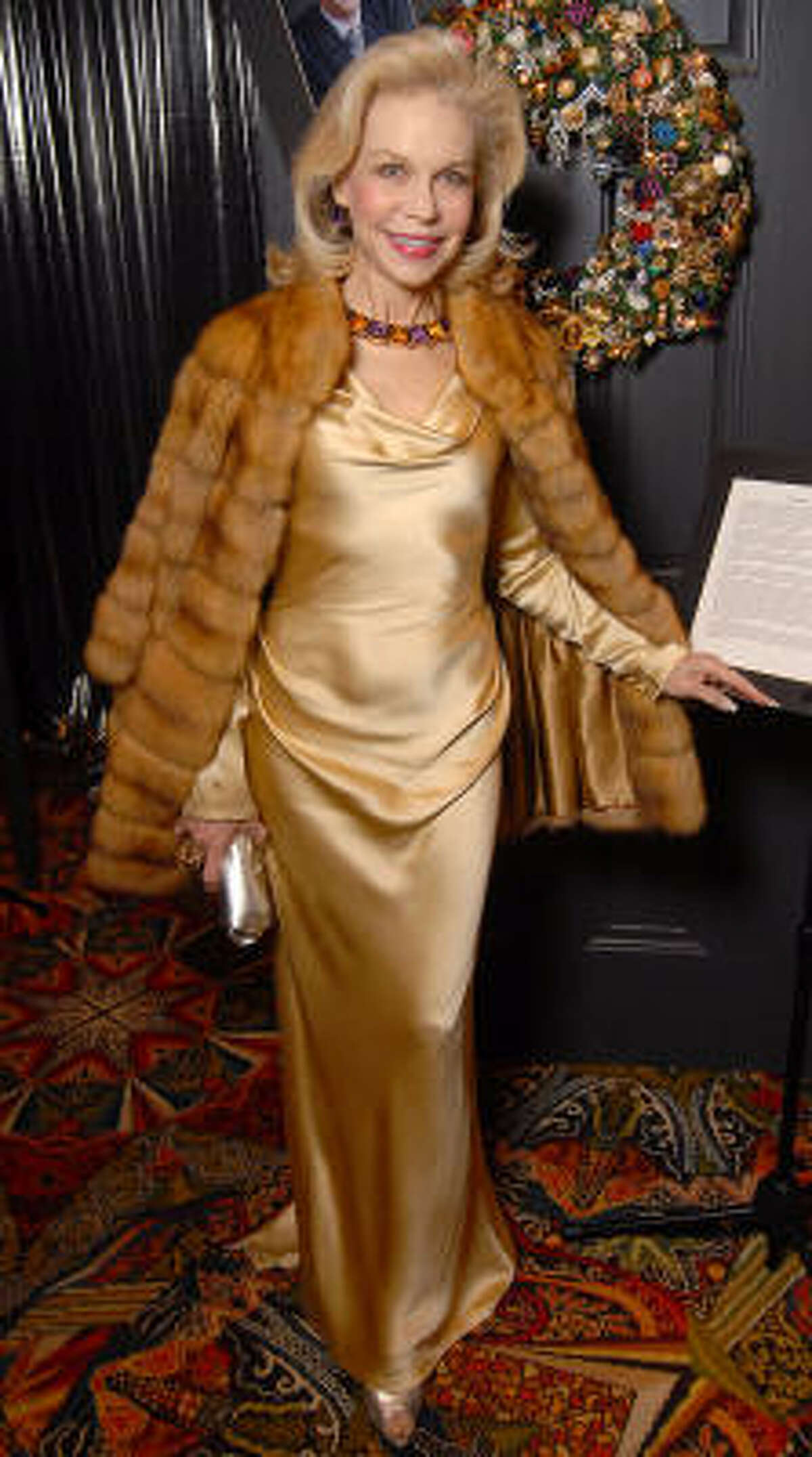 Honorary chair Lynn Wyatt at the Trees of Hope Gala
