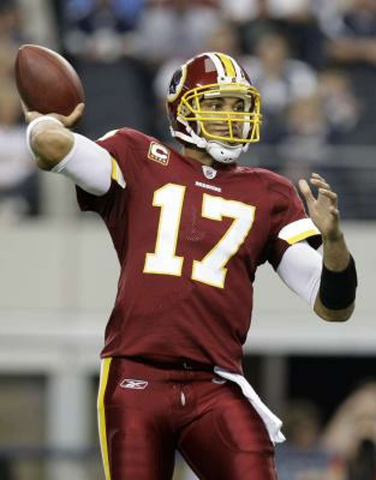 Redskins quarterback Jason Campbell has been on fire lately and is worth a look if you are in trouble at quarterback.