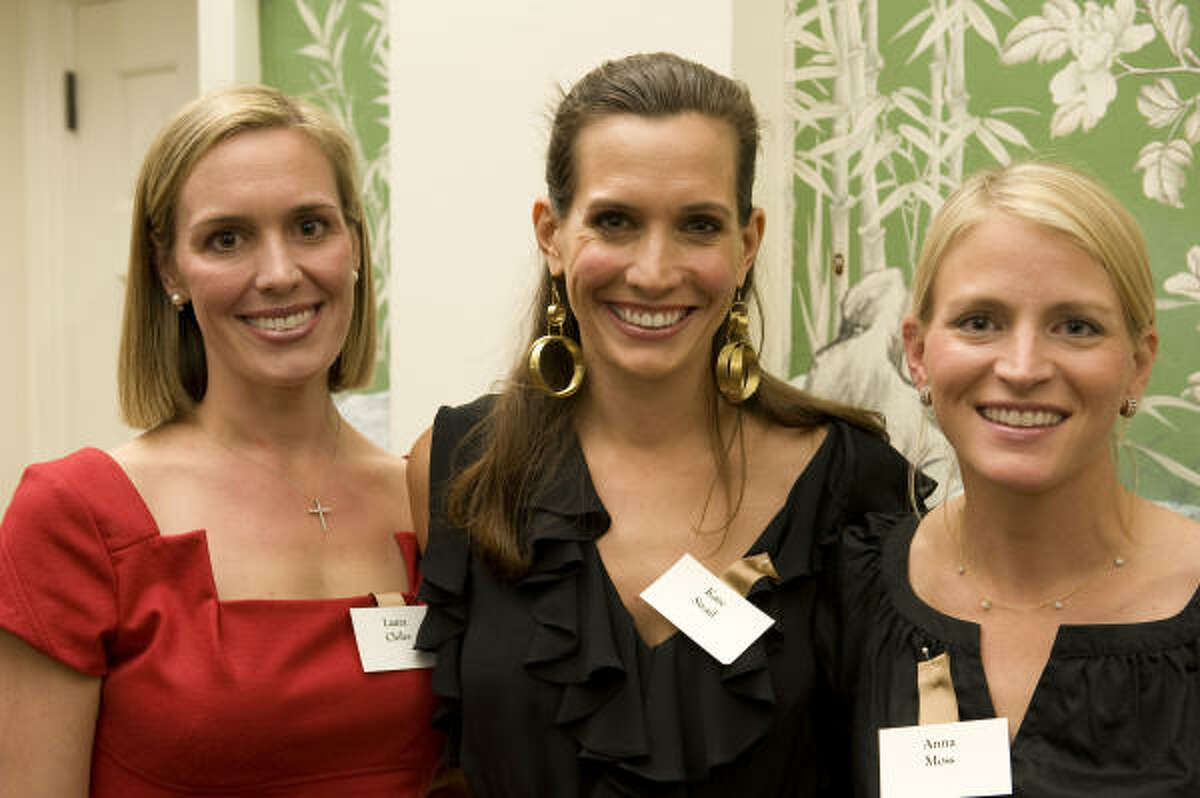 Texas Children's Hospital supporters Laura Chiles, from left, Kate Swail and Anna Moss at Texas Children's Hospital's 15th annual