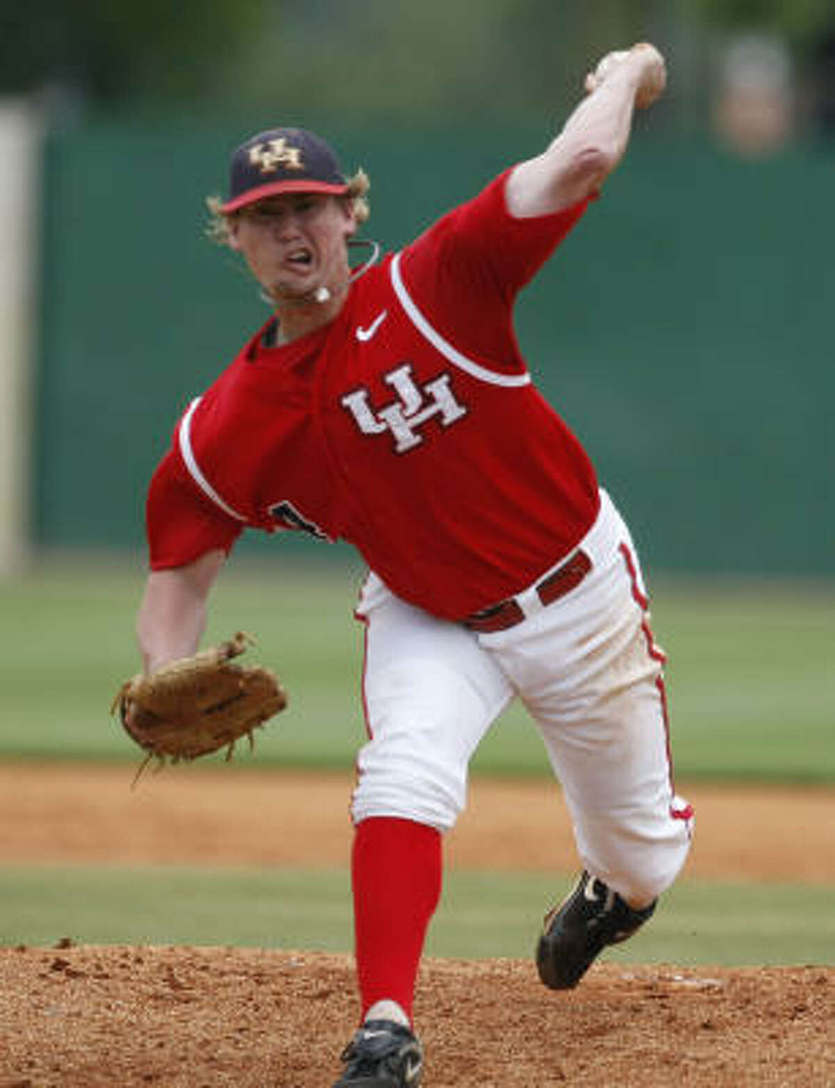 Starting pitcher Wes Musick, shown here against Rice, helped UH to a win over Marshall.