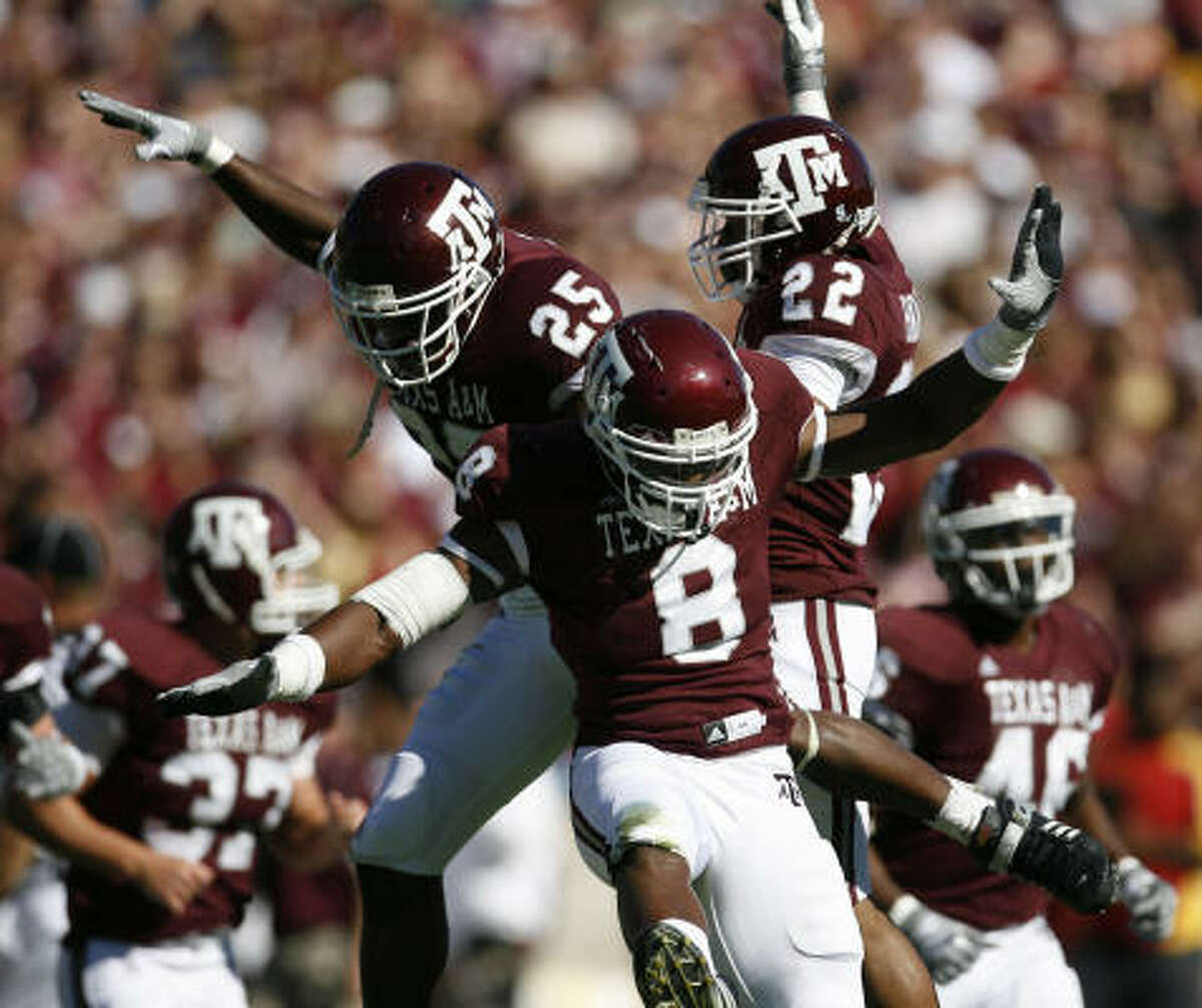 Texas A&M defenders have had more reasons to celebrate after becoming more effective on defense.