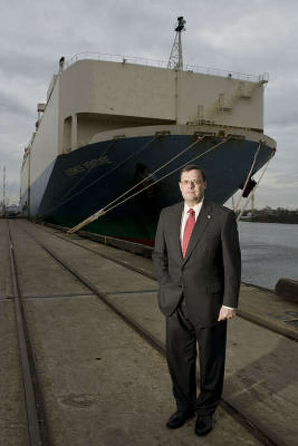 Alec Dreyer is the first person without previous maritime experience to lead the Port of Houston. Fortunately, he has a history of being a quick learner. Photo: James Nielsen:, Chronicle