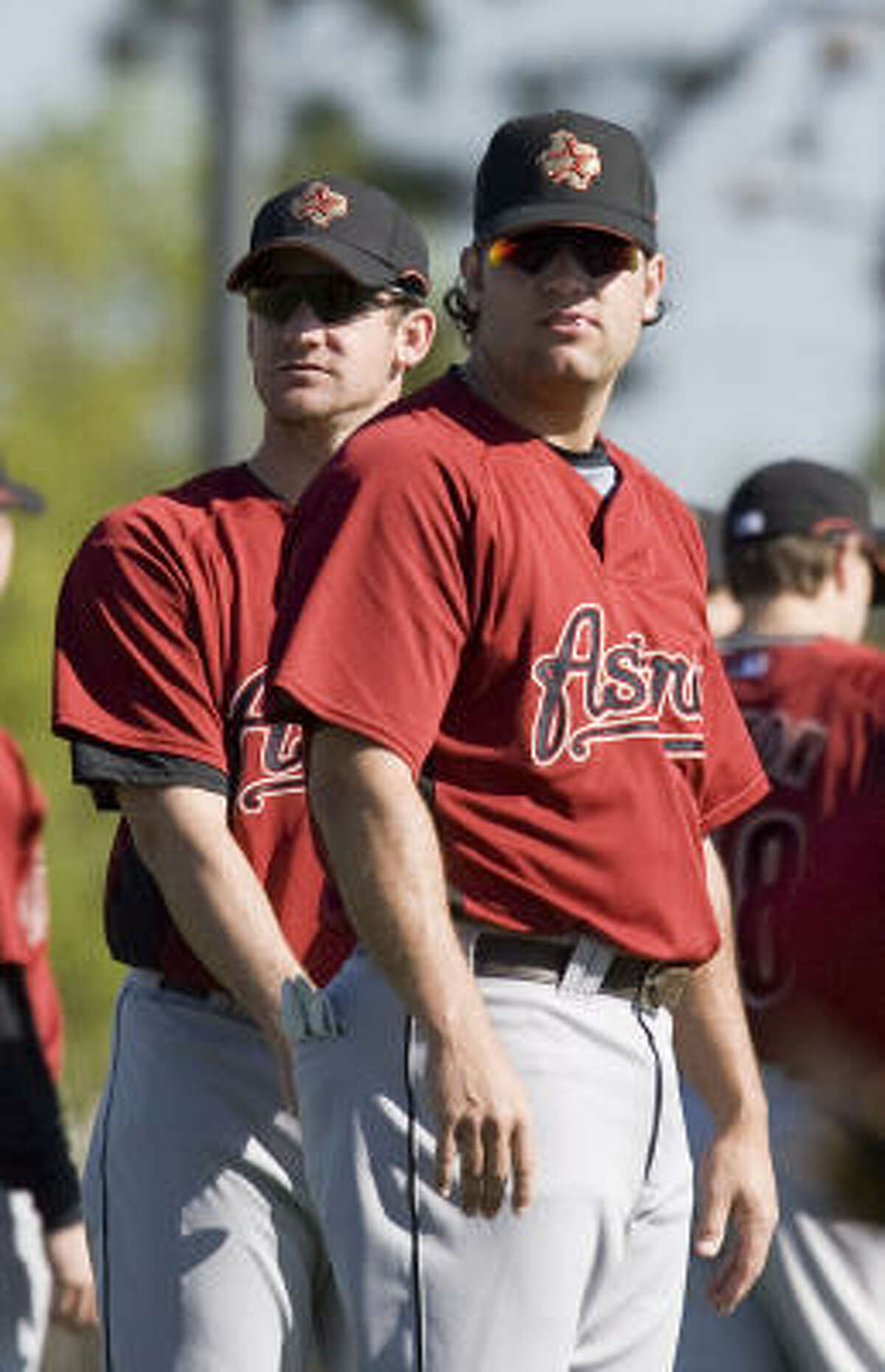 Roy Oswalt (left) and Lance Berkman have become the face of the Astros franchise.