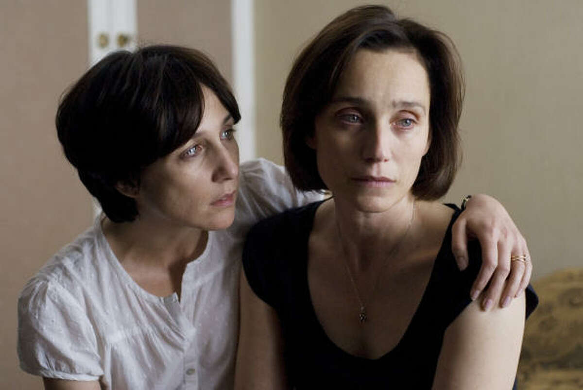 Elsa Zylberstein, left, and Kristin Scott Thomas star in I've Loved You So Long, which has just been released on DVD.