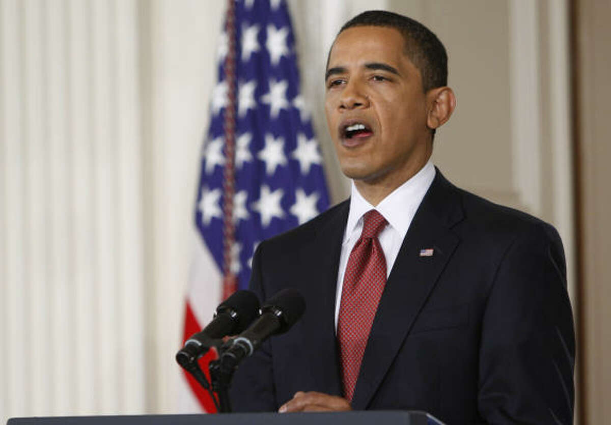 President Barack Obama holds the live news conference at the White House's East Room on Tuesday.