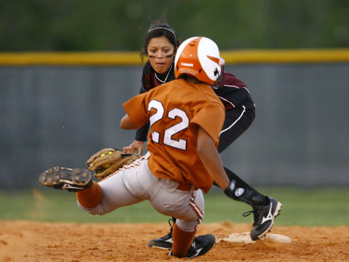 Sophomore pitcher Jessica Bowden went 2-0 this week in the 5A Region III finals against Clear Creek. She pitched 12 innings, allowed two runs and struck out eight batters. At the plate, she was 5-7 with three runs scored and a stolen base.
