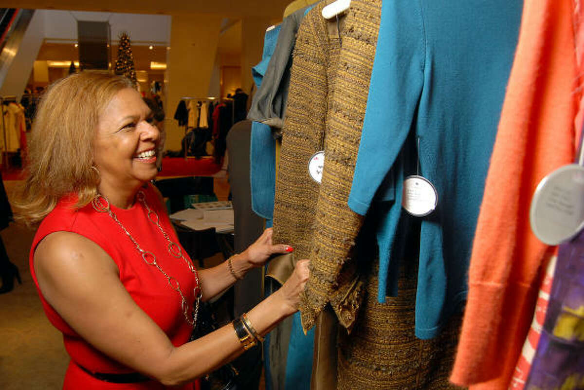 Yvonne Cormier at the first luncheon and Oscar de la Renta trunk show for Houston Chronicle Best Dressed honorees at Neiman Marcus.