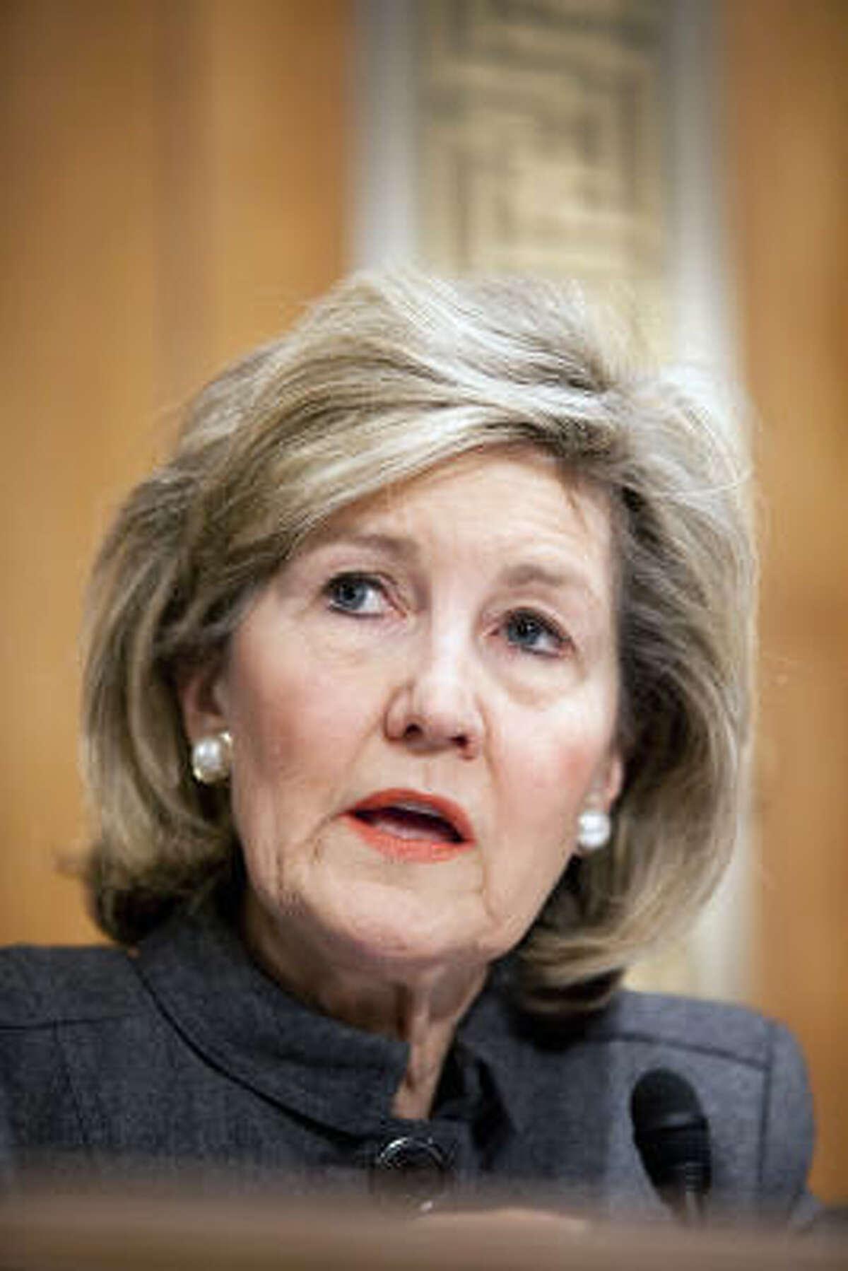 Texas Sen. Kay Bailey Hutchison said requiring health insurance is unconstitutional.