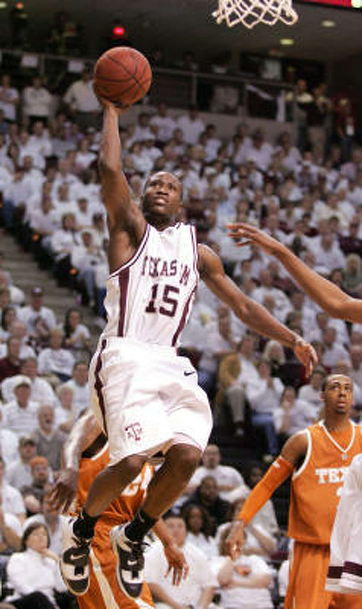 Guard Donald Sloan and Texas A&M (14-1) look to conference play to prove the strength of the team.