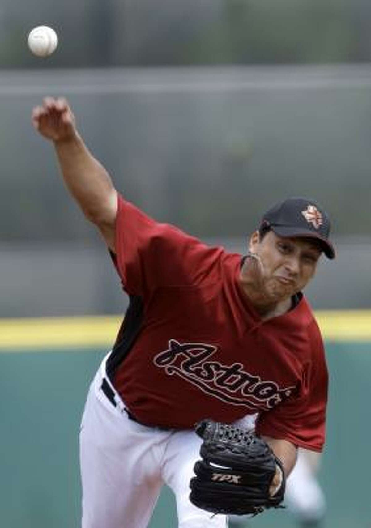 Astros pitcher Russ Ortiz, front-runner for the fifth spot, held the Reds to one hit and no runs in six innings.