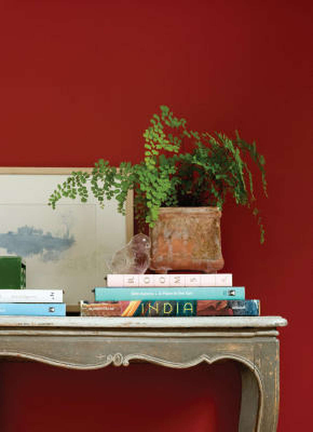 A bright red makes a room pop.